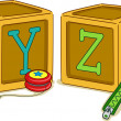 Stock Photo: Wood Blocks YZ