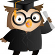 Owl Graduate — Stock Photo