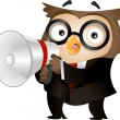Stock Photo: Owl Megaphone