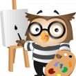 Stock Photo: Owl Painter