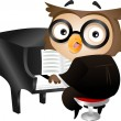 Pianist Owl — Stock Photo #13604793