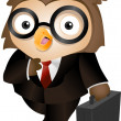 Stock Photo: Owl Briefcase