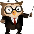 Teacher Owl — Stock Photo