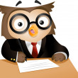 Writing Owl — Stock Photo