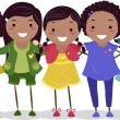 African-American Girl Group - Stock Photo