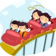 Family Roller Coaster - Foto Stock