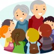 Kids and Grandparents — Stock Photo #13604906