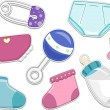 Baby Products Stickers — Stock Photo