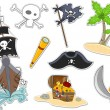 Pirate Stickers - Stock Photo