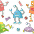 Robot Stickers - Stock Photo