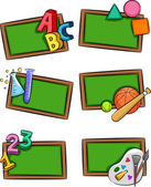 School Subjects Icons — Stok fotoğraf