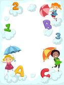 Umbrella Alphabet — Stock Photo