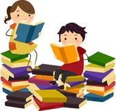 Stickman libros — Foto de Stock