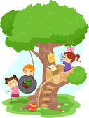 Treehouse Kids — Stock Photo