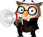 Owl Megaphone — Stock Photo