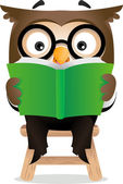 Reading Owl — Stock Photo