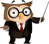 Teacher Owl — Foto de Stock