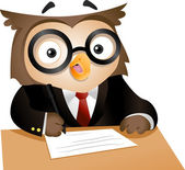 Writing Owl — Foto de Stock