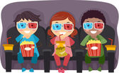 3D Glasses Kids — 图库照片