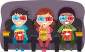 Filhos de óculos 3d — Foto Stock