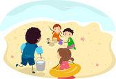 Beach Kids — Stock Photo