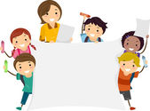 Banner Kids — Stock Photo