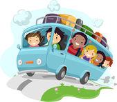 Niños de viaje de carretera — Foto de Stock
