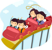 Aile lunapark treni — Stok fotoğraf
