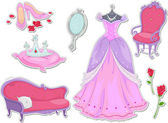 Princezna samolepky — Stock fotografie