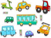 Land Vehicles Stickers — Stock Photo