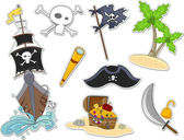 Pirate Stickers — Stock Photo