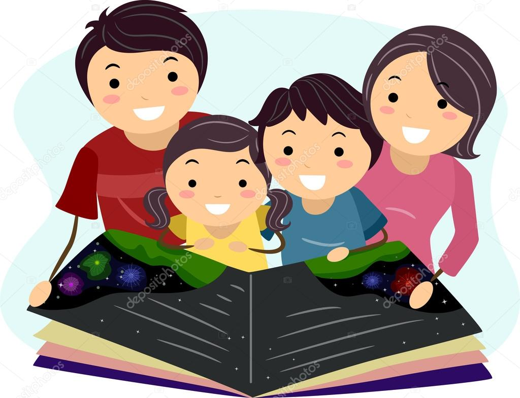 clipart family reading together - photo #5