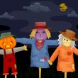 Stock Photo: Halloween Scarecrows