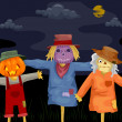 Halloween Scarecrows — Stock Photo