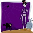 Stock Photo: Halloween Skeleton Background