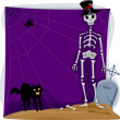 Halloween Skeleton Background — Stock Photo