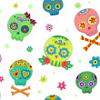 Stock Photo: Seamless Sugar Skulls