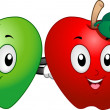 Stock Photo: Apple Mascots