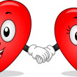 Heart Couple Mascots — Stockfoto