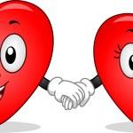 Heart Couple Mascots — Stock Photo