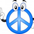 Peace Sign Mascot - Stock Photo