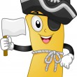 Pirate Map Mascot - Stock Photo