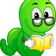 Bookworm Mascot — Stock Photo