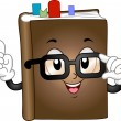 Book Mascot — Stock Photo