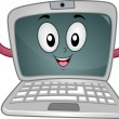 Stock Photo: Laptop Mascot