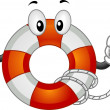 Lifebuoy Mascot — Stock Photo