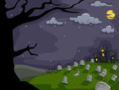 Graveyard Background — Stock Photo