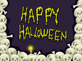 Halloween Skull Background — Stock Photo