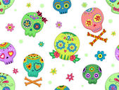 Seamless Sugar Skulls — Stock Photo