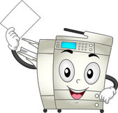 Copier machine mascotte — Stockfoto